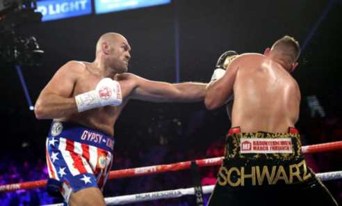 Tyson Fury Knocks Out Tom Schwarz In Second Round