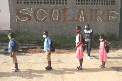 Ivory Coast Children Flock Back To School After Covid-19 Shutdown