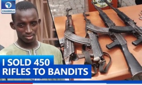 Police Arrest Niger Republic  Gun Runner Who Sells Over 450 Rifles To Bandits In Nigeria