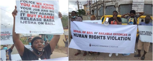 Popular Nollywood Actor Yomi Fabiyi, Others Protest At Panti Over Baba Ijesha's Detention