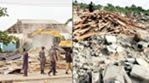 Outrage as FG Demolishes  Churches, Mosques, Others In FESTAC, Lagos