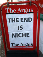 The end is niche newspaper board