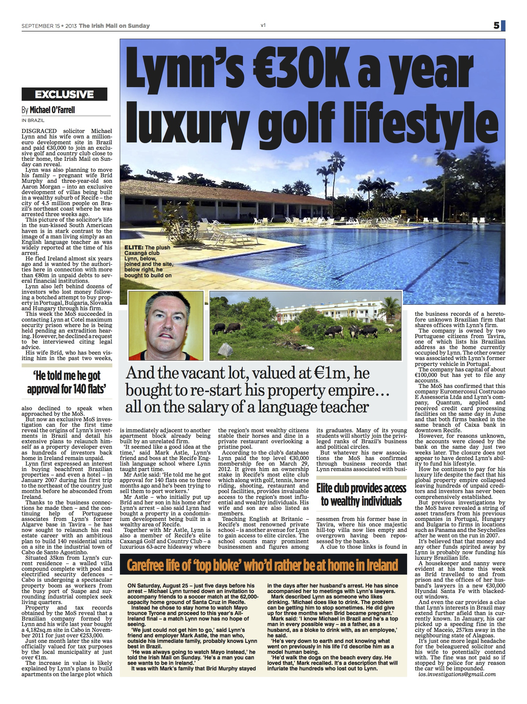 Lynn's €30K a year luxury golf lifestyle – NewsScoops Org