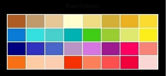 color palette spring type