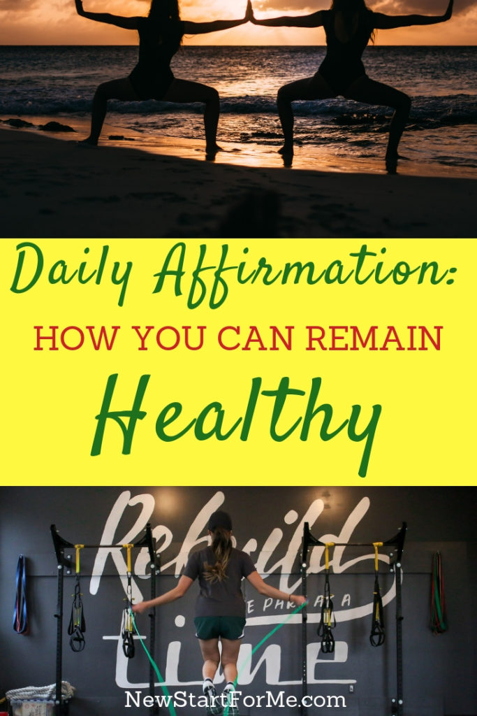 """Why do you stay active? 6-pack abs? To look hot in that dress? To add years to your life? NewStart Daily Affirmations: """"I Stay Active to Remain Healthy!"""""""