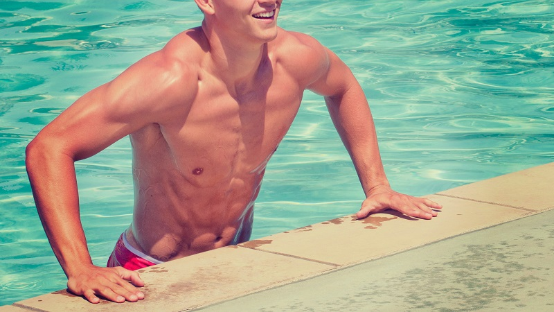 10 Minute Workouts Fit Man Getting Out of a Pool