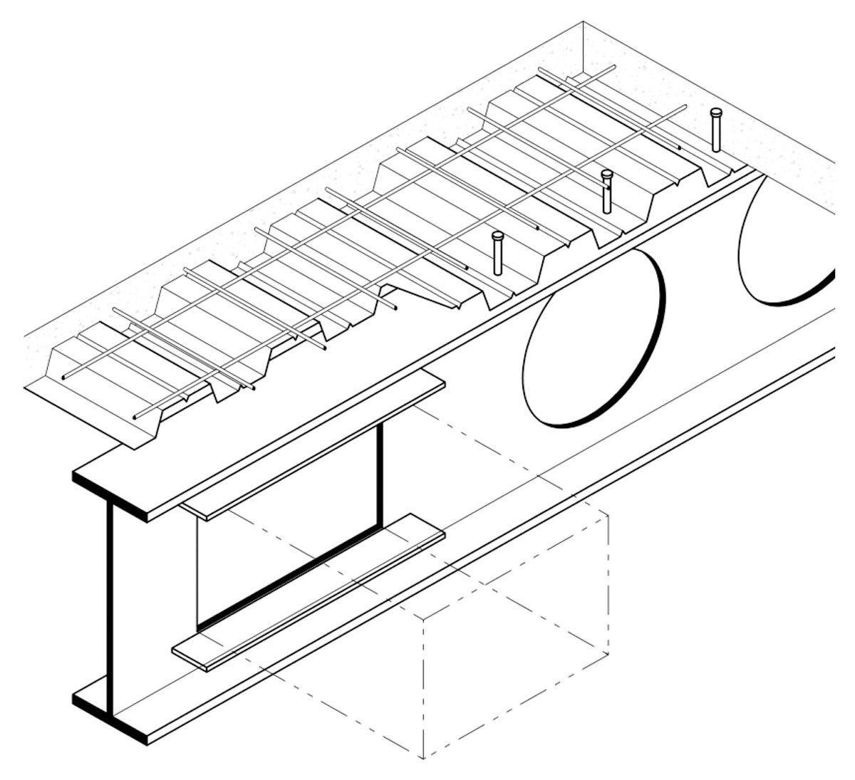 Fire protection of beams with web openings