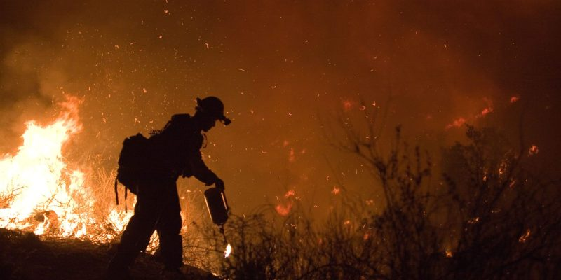 California Wildfires Burn Weed