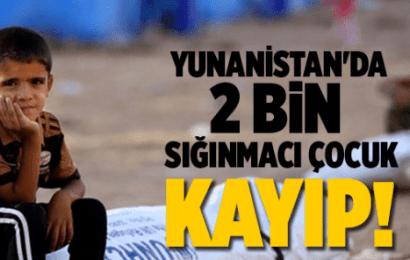 Yunanistan'da Refakatsiz 2 Bin Sığınmacı Çocuk Kayıp!