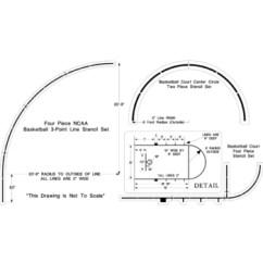 Ncaa Basketball Court Diagram Elements Of Plot Worksheet Stencil Kit Set