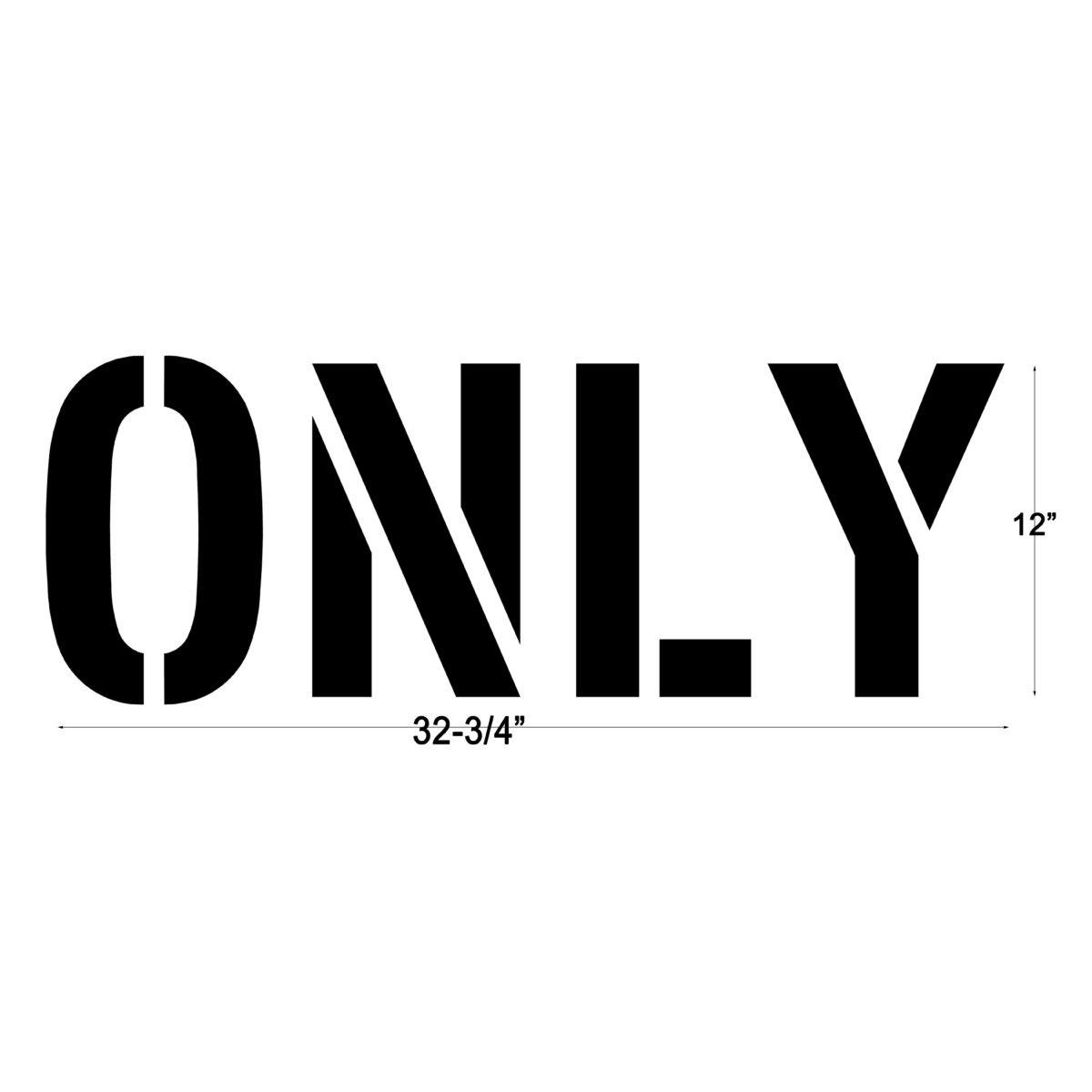 ONLY word stencil