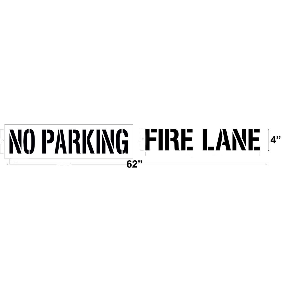 No Parking Fire Lane Stencil