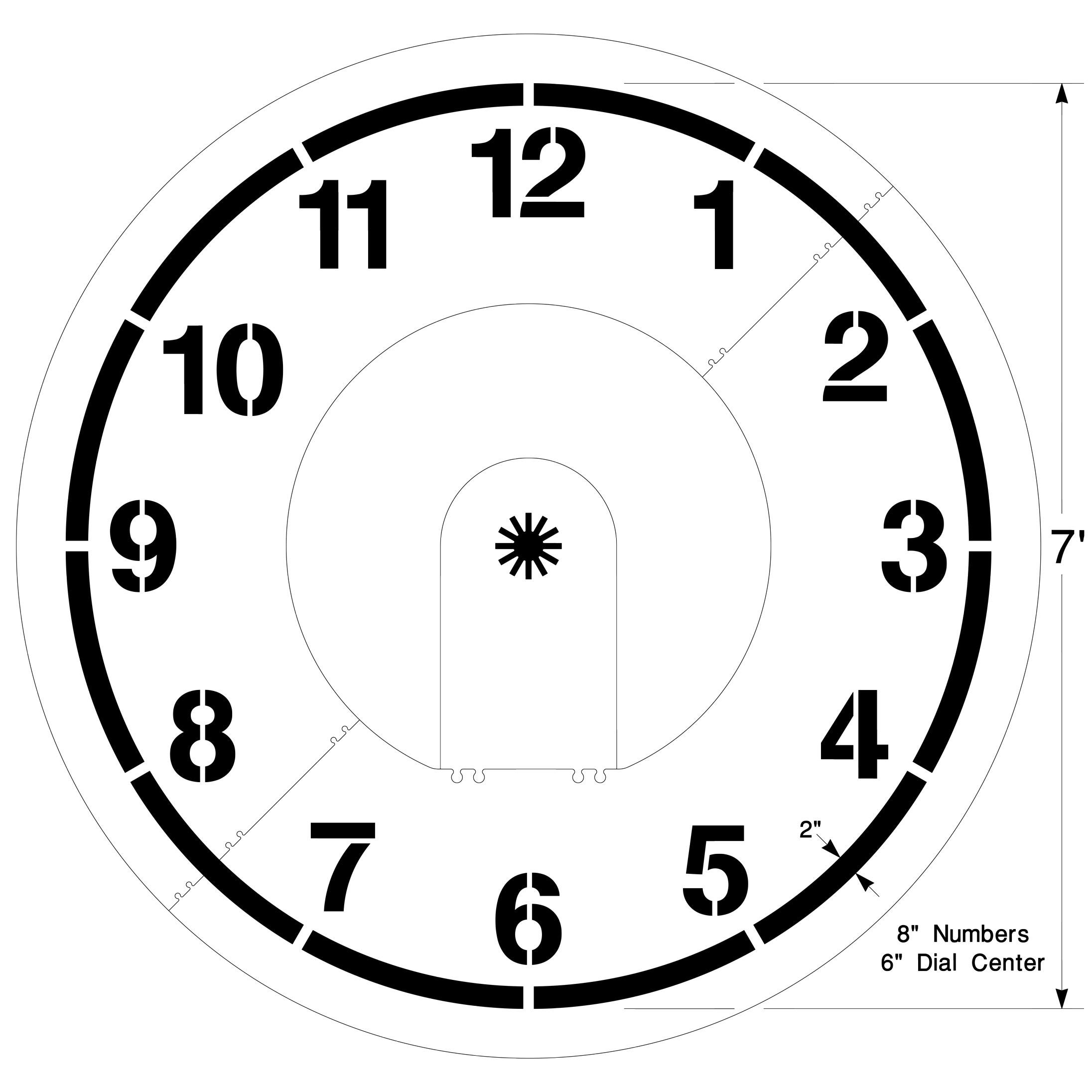 Clock Playground Stencil