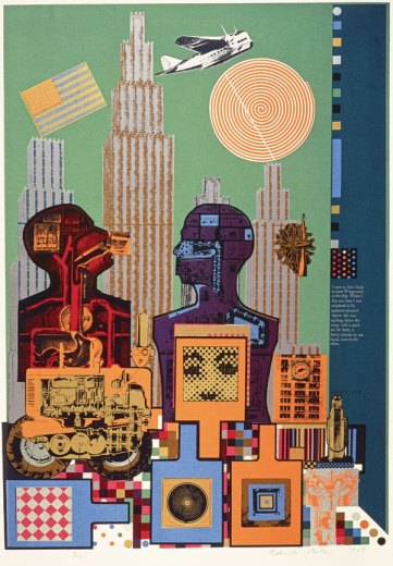 Wittgenstein in New York (from the As is When portfolio), 1965, Screenprint, Courtesy Scottish National Gallery of Modern Art, © Trustees of the Paolozzi Foundation.