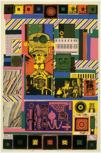 Conjectures to Identity, 1963–64, Screenprint, Courtesy the British Council Collection, © Trustees of the Paolozzi Foundation.