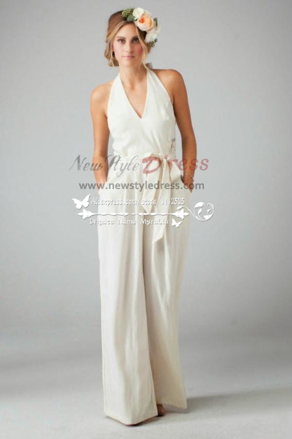 47b4334e81b Lovely Lace Bridal Jumpsuit Dress Sposa Pantaloni Wps 013