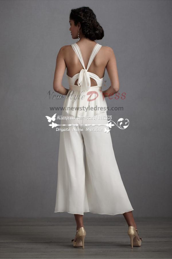 Wedding dresses culottes Jumpsuit TeaLength pants wps007
