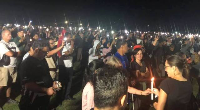Thousands gathered for a vigil on Saturday night in Hamilton