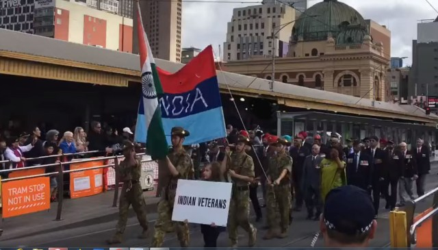 Indian veterans marching in Melbourne