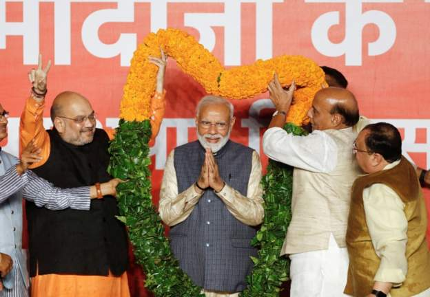 'Charismatic' Modi re-elected PM with thumping majority