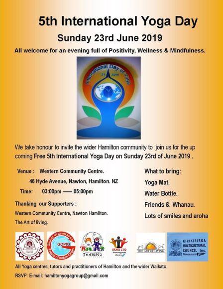International Yoga Day in Hamilton