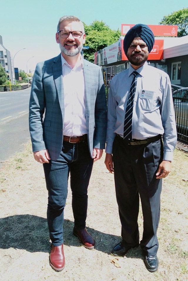 Gurbir Singh with Immigration Minister