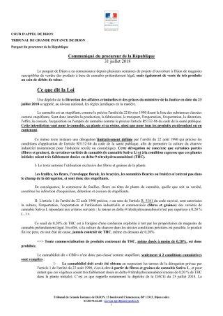 Communiqué procureur Dijon 31 juillet p.1