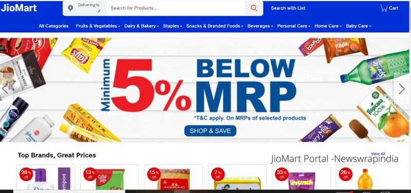Reliance launches JioMart online portal trial in 200 Indian cities