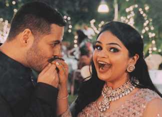 actress-vidyullekha-raman-and-sanjay-engagement-still