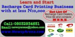 Recharge Card Printing Business: All it takes to start up the Business