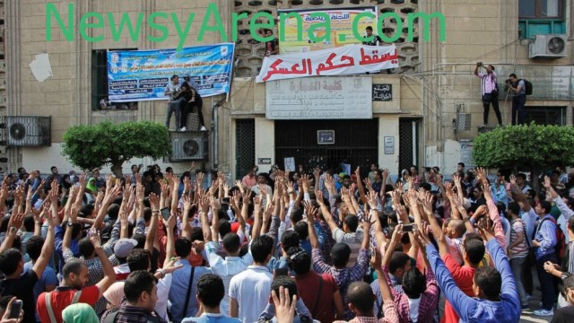 Students stage anti-government protests in Egypt