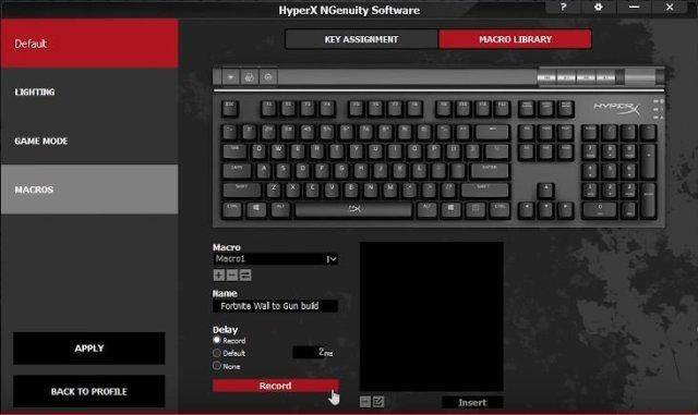 NGenuity Software - HeperX Alloy Elite RGB