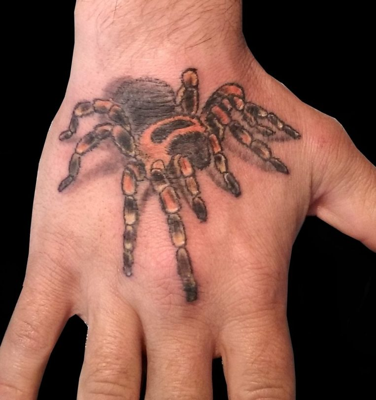 Mexican red knee Tarantula tattoo - Tatouage Tarentule mexicaine