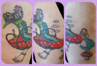 Tatouage Alice au Pays des Merveilles - Alice in the Wonderland Tattoo