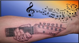 Guitar Tattoo - Tatouage Guitare