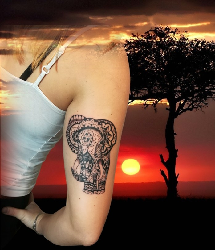 Mandala elephant tattoo Tatouage Landes France