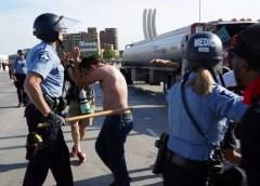 Truck speeds into crowd of George Floyd protestors in Minneapolis