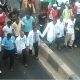 Osun doctors stage protest against half salaries, threaten strike