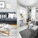 Modern living rooms look grandeur with grey sofas