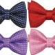 Look debonair in Polka dot bow tie
