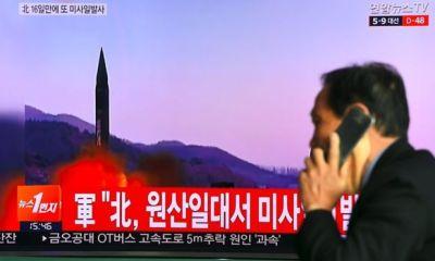 N'Korea fires missile into sea
