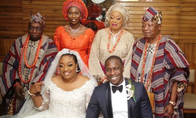 Solemnization of Holy Matimony between Olujonwo Obasanjo and former Miss Tope Adebutu