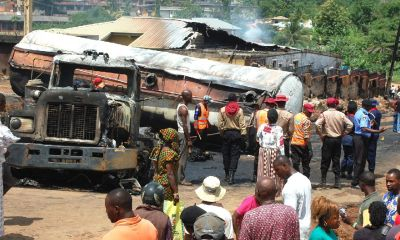 Woman burnt to death, Church, buildings, destroyed  in Ibadan auto crash