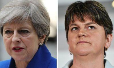 Deal signed over UK minority govt