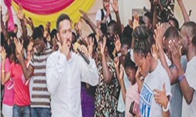 Ghanaian actor, Majid Michel, leads healing session in church
