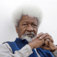 Wole Soyinka gives in to age, goes on walking stick