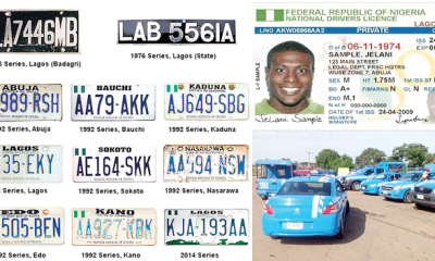 Insecurity: Old number plates, fake driver's licence as albatrossDriving school sabotaging FRSC's efforts