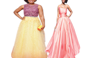 Sparkle in ball gown