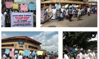 PHOTOS: Catholic Dioceses hold mass, rosary procession for victims of killings across Nigeria