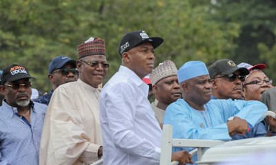 PHOTOS: Saraki, Tambuwal, Dogara, others storm INEC office over Osun election
